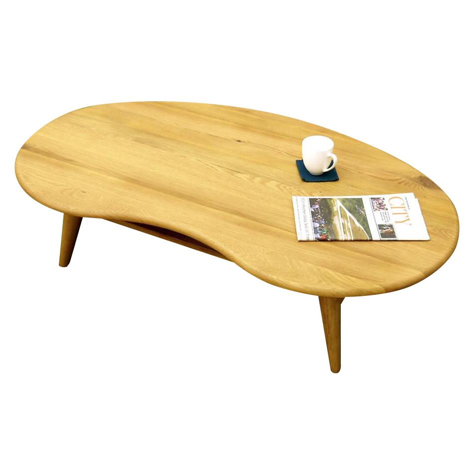 【代引き・同梱不可】IKKA イッカ センターテーブル 120cm オーク 120CT【家具 イス テーブル】