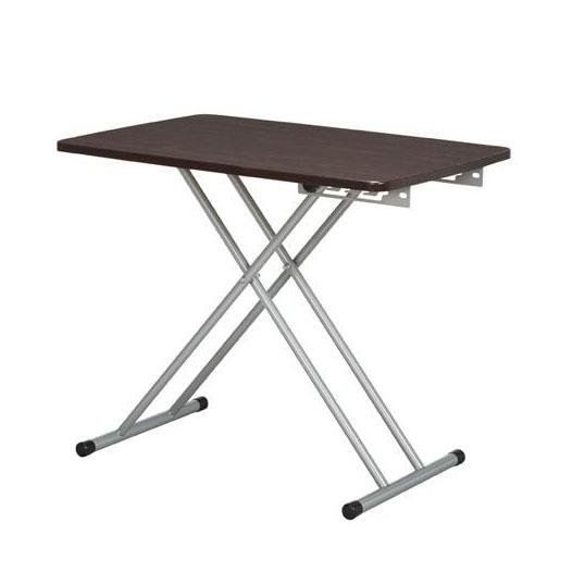 【代引き・同梱不可】ines(アイネス) 6段階式昇降テーブル NK-527 ブラウン【家具 イス テーブル】