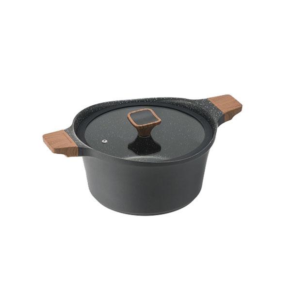 【代引き・同梱不可】ワンダーシェフ LARAMIE(ララミー) 両手鍋 24cm 630179【鍋(パン)】