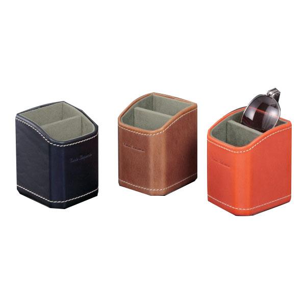 ヌメ革の頂点に立つイタリア伝統レザーButteroを使用 Buttero ブッテーロ 2本入れ お得セット メガネ収納スタンド EL-300 特別セール品 収納用品