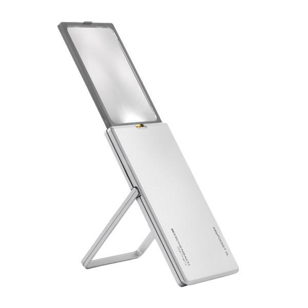 エッシェンバッハ イージーポケット LEDライト付手持ちルーペ 2.5倍 XL シルバー 1522-11【文具】