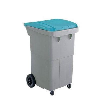 【代引き・同梱不可】三甲 サンコー サンクリーンボックス SCB-Pシリーズ 4輪キャスター付き大型ごみ箱 SCB200P フタ:ブルー 620000-02【掃除関連】
