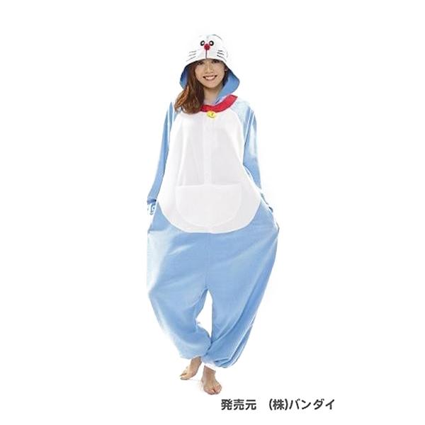サザック フリース着ぐるみ ドラえもん BAN-049 フリーサイズ(大人用)【コスチューム】