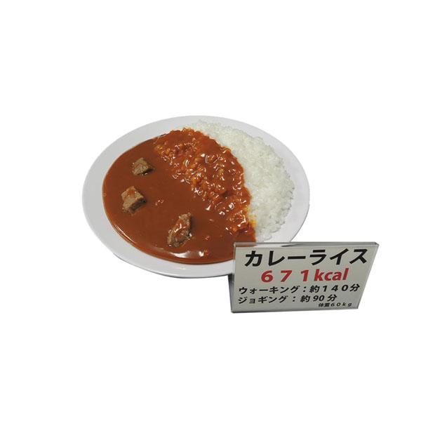 日本職人が作る 食品サンプル カロリー表示付き カレーライス IP-545【アイデア玩具】