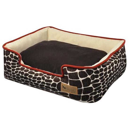 あご乗せもできる「ラウンジベッド」♪ ラグジュアリーベッド「P.L.A.Y」 ペット用ラウンジベッド(BOX型) XL カラハリ/ブラウン【ペット 犬用品】