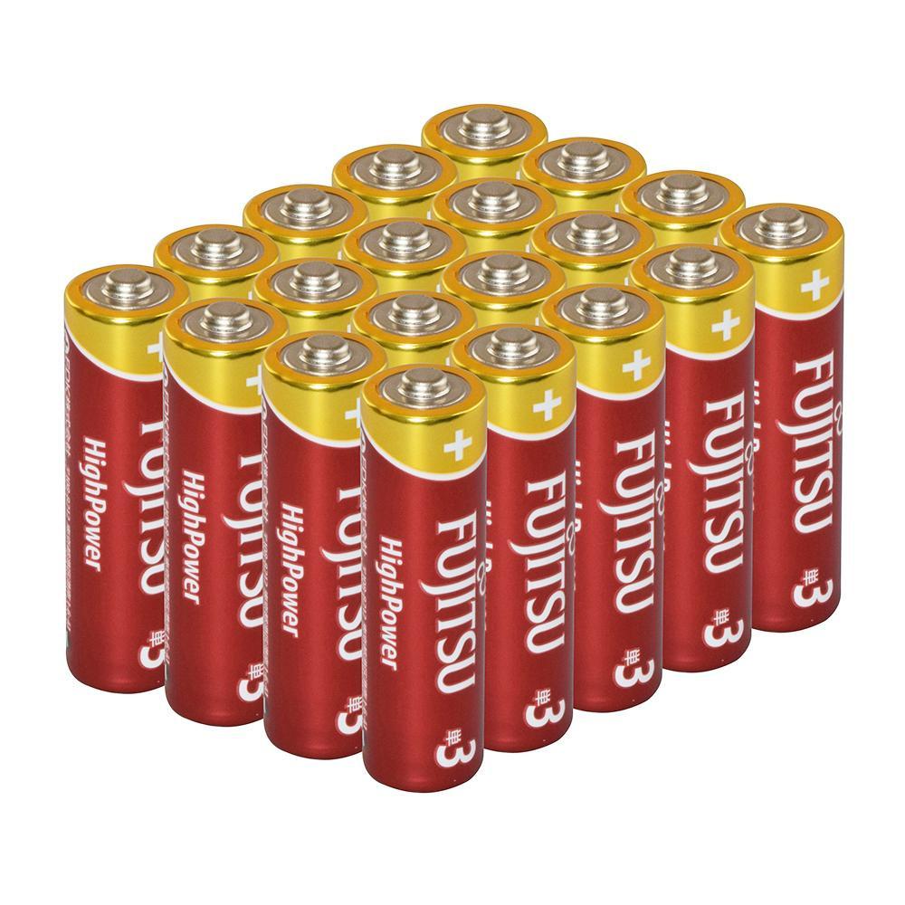 ワイドレンジ性能をさらに向上させた高性能アルカリ電池 富士通アルカリ乾電池 20本お買い得パック 限定品 単3形 宅配便送料無料 ラジオ 1.5V テレビ LR6FH20P