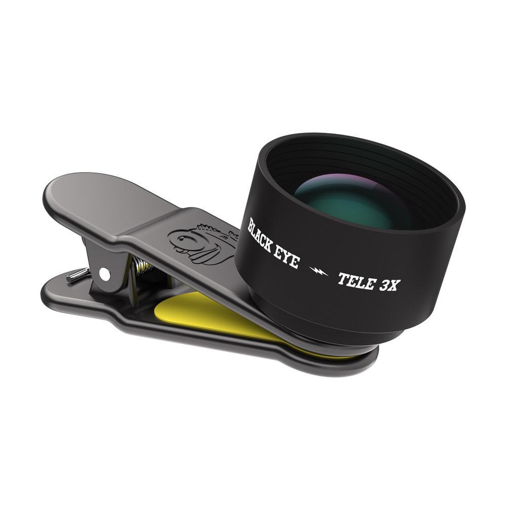 BLACK EYE(ブラックアイ) スマホ用クリップ式レンズ 光学3倍望遠レンズ PRO TELE 3X TE002【PC・携帯関連】