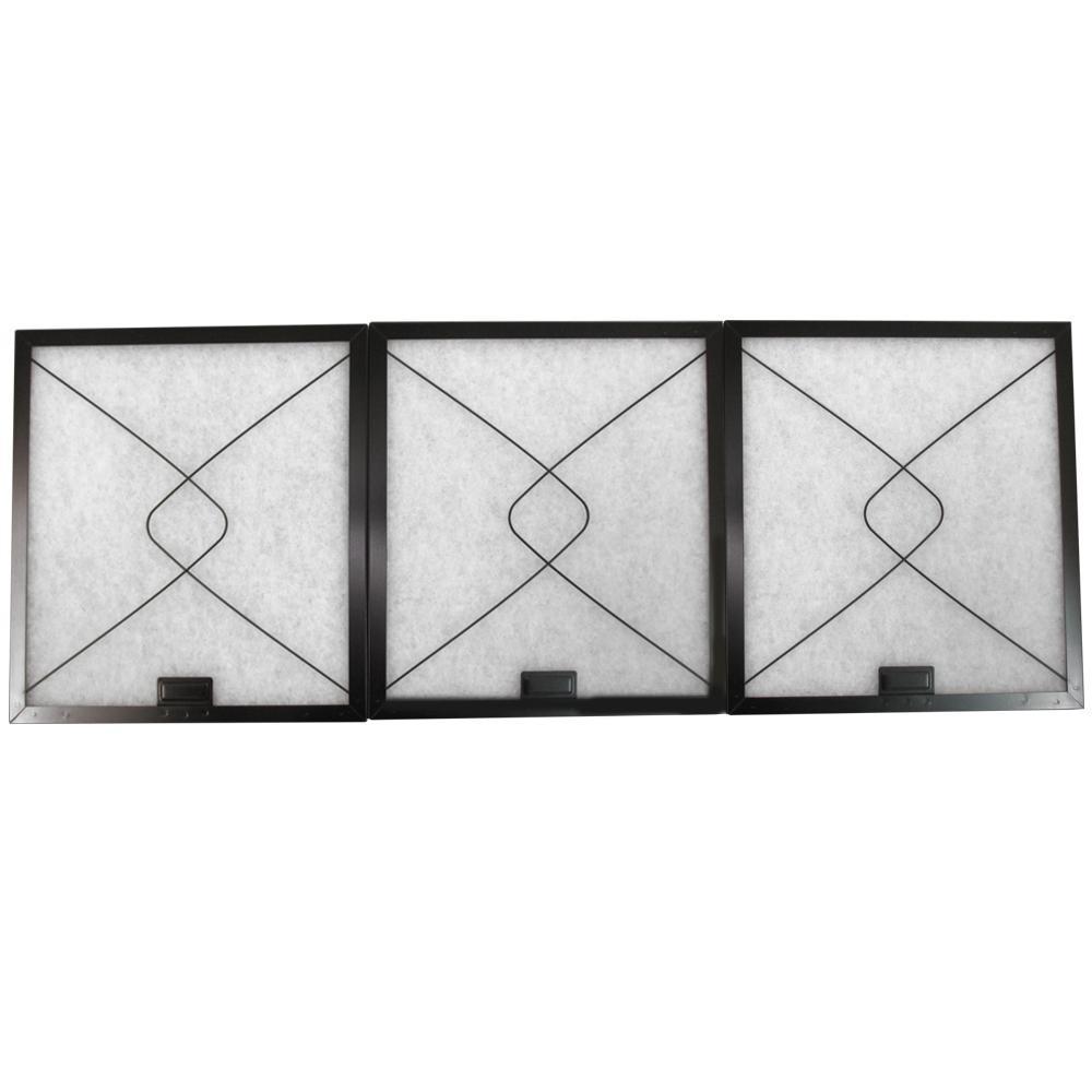 東洋機械 難燃性ガラス繊維 レンジフードフィルター 大型レンジフード 差し込みタイプ 34.3×29.7 取付用枠3枚+フィルター3枚【その他インテリア】