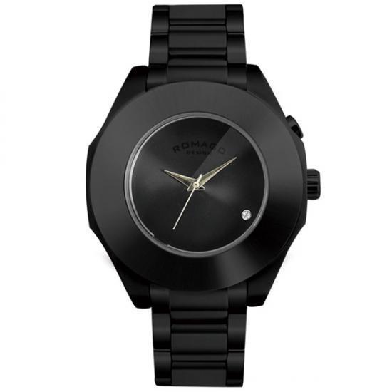 ROMAGO DESIGN (ロマゴデザイン) Harmony series ハーモニーシリーズ 腕時計 RM003-1513SS-BK【腕時計 男性用】
