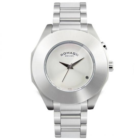 ROMAGO DESIGN (ロマゴデザイン) Harmony series ハーモニーシリーズ 腕時計 RM003-1513SS-SV【腕時計 男性用】