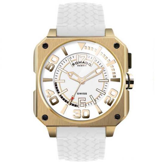 ROMAGO DESIGN (ロマゴデザイン) Cool series クールシリーズ 腕時計 RM018-0073PL-GD【腕時計 男性用】