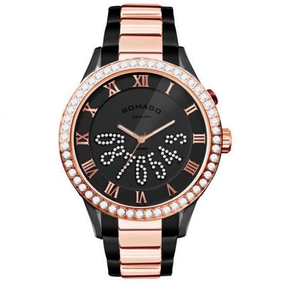 ROMAGO DESIGN (ロマゴデザイン) Luxury series ラグジュアリーシリーズ 腕時計 RM019-0214SS-RGBK【腕時計 男性用】