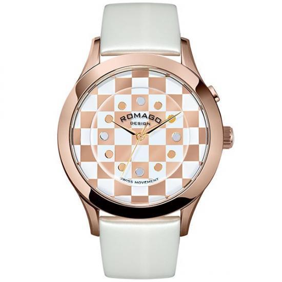 ROMAGO DESIGN (ロマゴデザイン) Fashioncode series ファッションコードシリーズ 腕時計 RM052-0314ST-RGWH【腕時計 男性用】