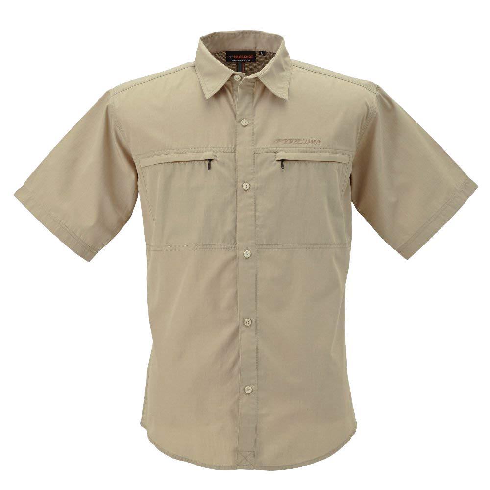 BOWBUWN ライトフィールドシャツショートスリーブ ベージュ(20) Lサイズ Y1432-L-20【メンズ(その他)】