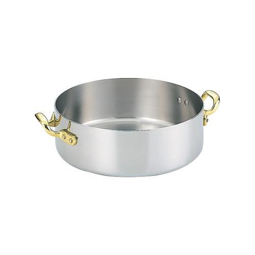 電磁両手鍋 浅型 24cm 3464-1240【鍋(パン)】