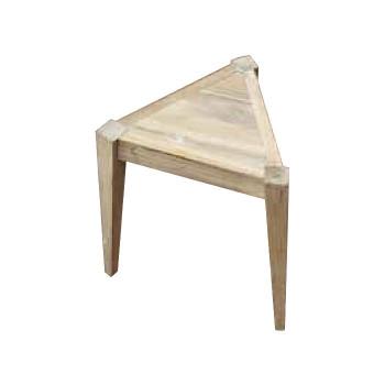 お気にいる チーク製の三角チェア 代引き 同梱不可 39451 高品質 三角チェアN