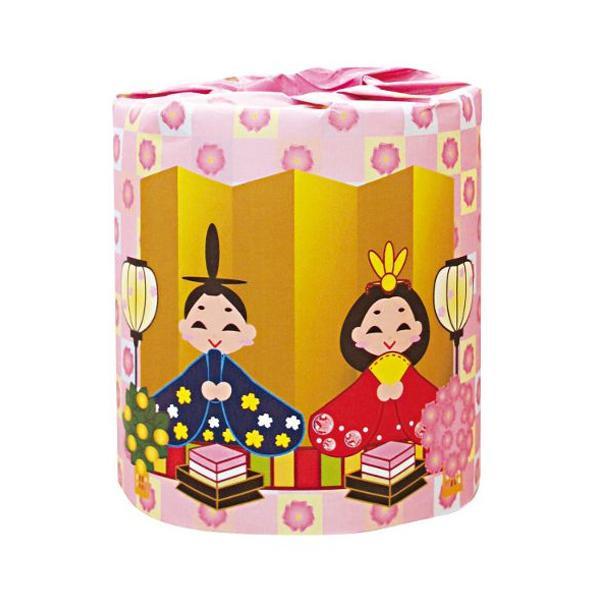冬から春の販促品 ひなまつり トイレットペーパー 100個入 2363【トイレマット・カバー類】