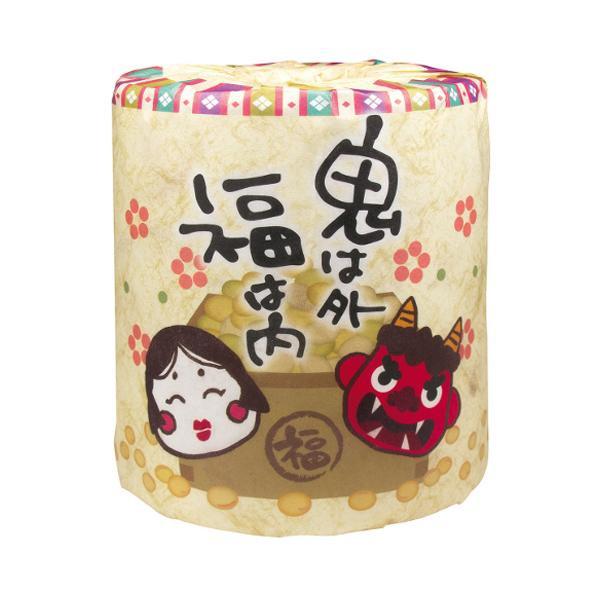 冬から春の販促品 節分 トイレットペーパー 100個入 2269【トイレマット・カバー類】
