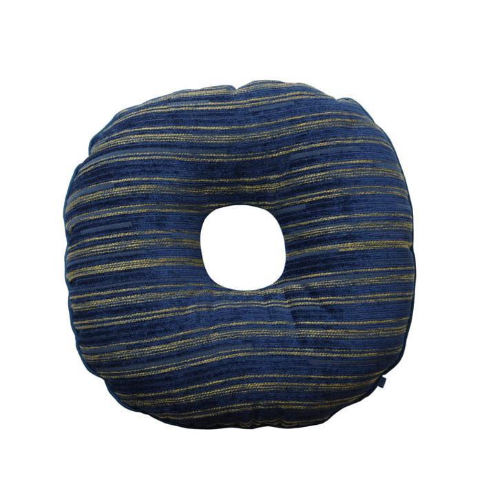 シェニール織の高級感あるクッションです 円座クッション 市場 エルピス ネイビー 9308469 約40cm丸 マタニティ まとめ買い特価