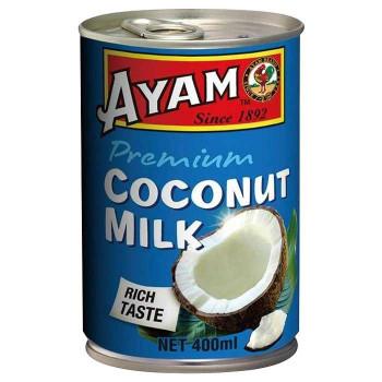 ココナッツエキス約82%使用の濃厚なココナッツミルク 代引き 同梱不可 アヤム ココナッツミルク 12個セット お求めやすく価格改定 メーカー在庫限り品 プレミアム 400ml A3-04
