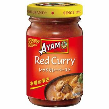 アジアの伝統料理をご家庭で 代引き 割引も実施中 同梱不可 アヤム 12個セット A6-41 贈与 レッドカレーペースト 100g