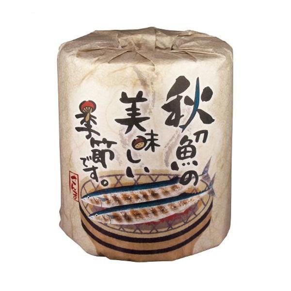 秋の販促品 秋刀魚の美味しい季節です トイレットペーパー 100個入 2963【トイレマット・カバー類】