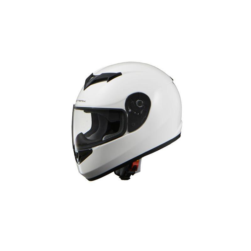 リード工業 STRAX フルフェイスヘルメット ホワイト Lサイズ SF-12【カー・自転車】