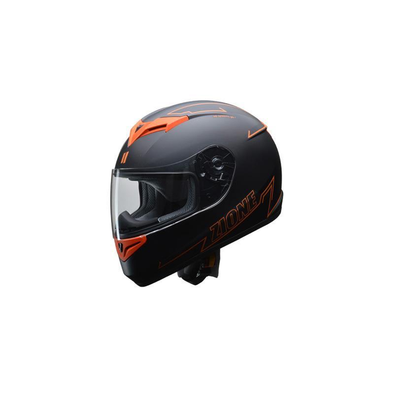 リード工業 LEAD ZIONE フルフェイスヘルメット オレンジ Mサイズ【カー・自転車】