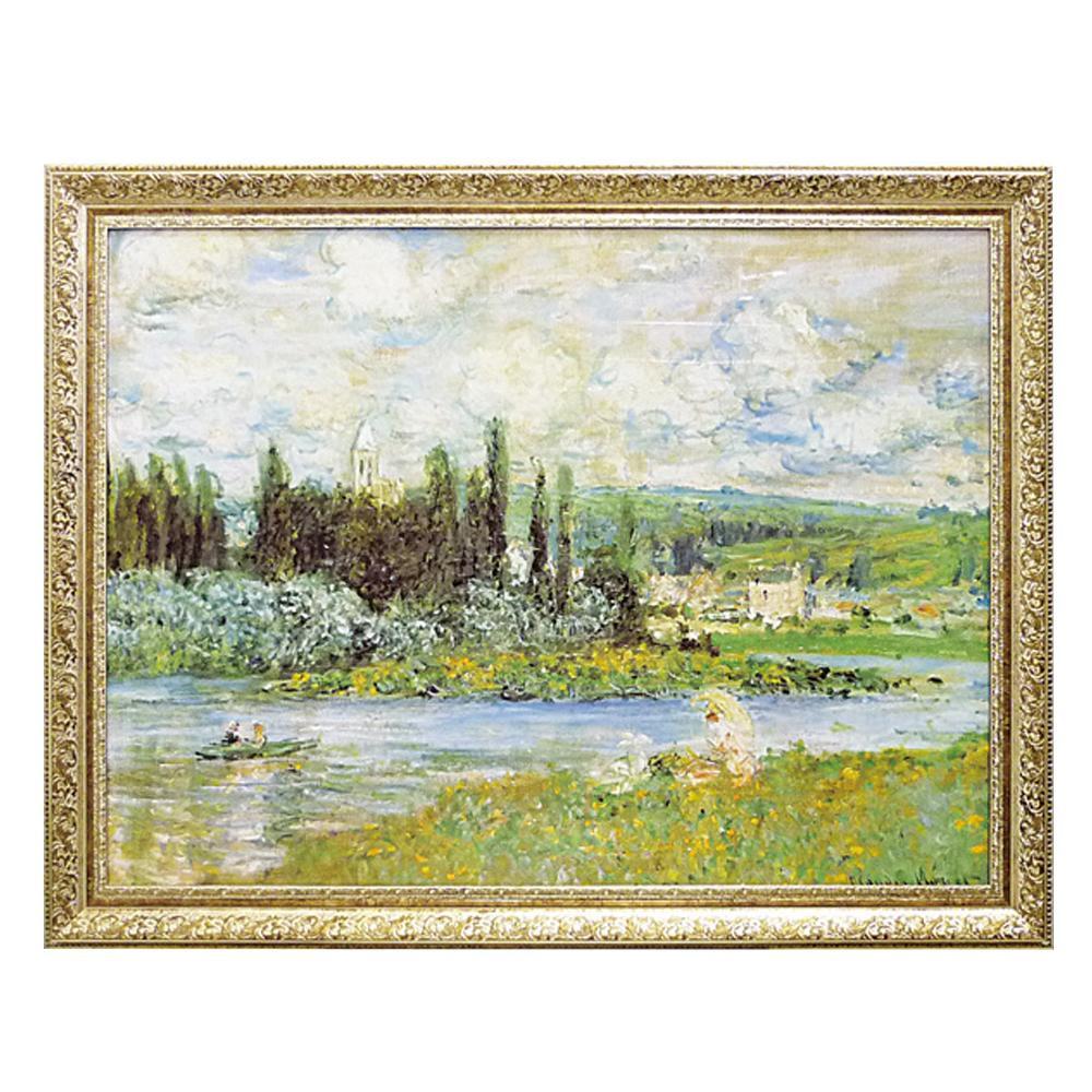 ユーパワー ミュージアム シリーズ モネ「Vetheuil sur Seine 1880」 MW-18067【その他インテリア】