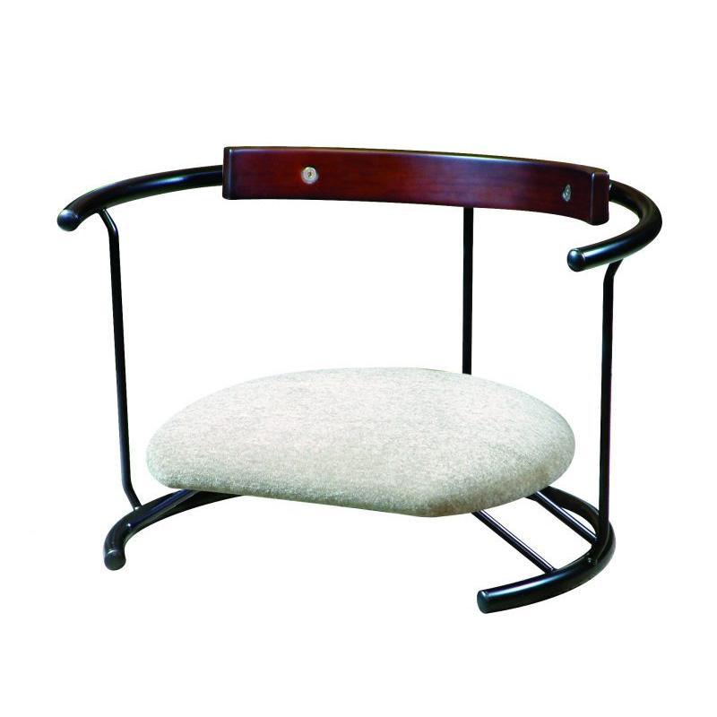 ルネセイコウ 日本製 スイングスツール 木板背当て付き 座ユー モスホワイト ZAU-04【家具 イス テーブル】