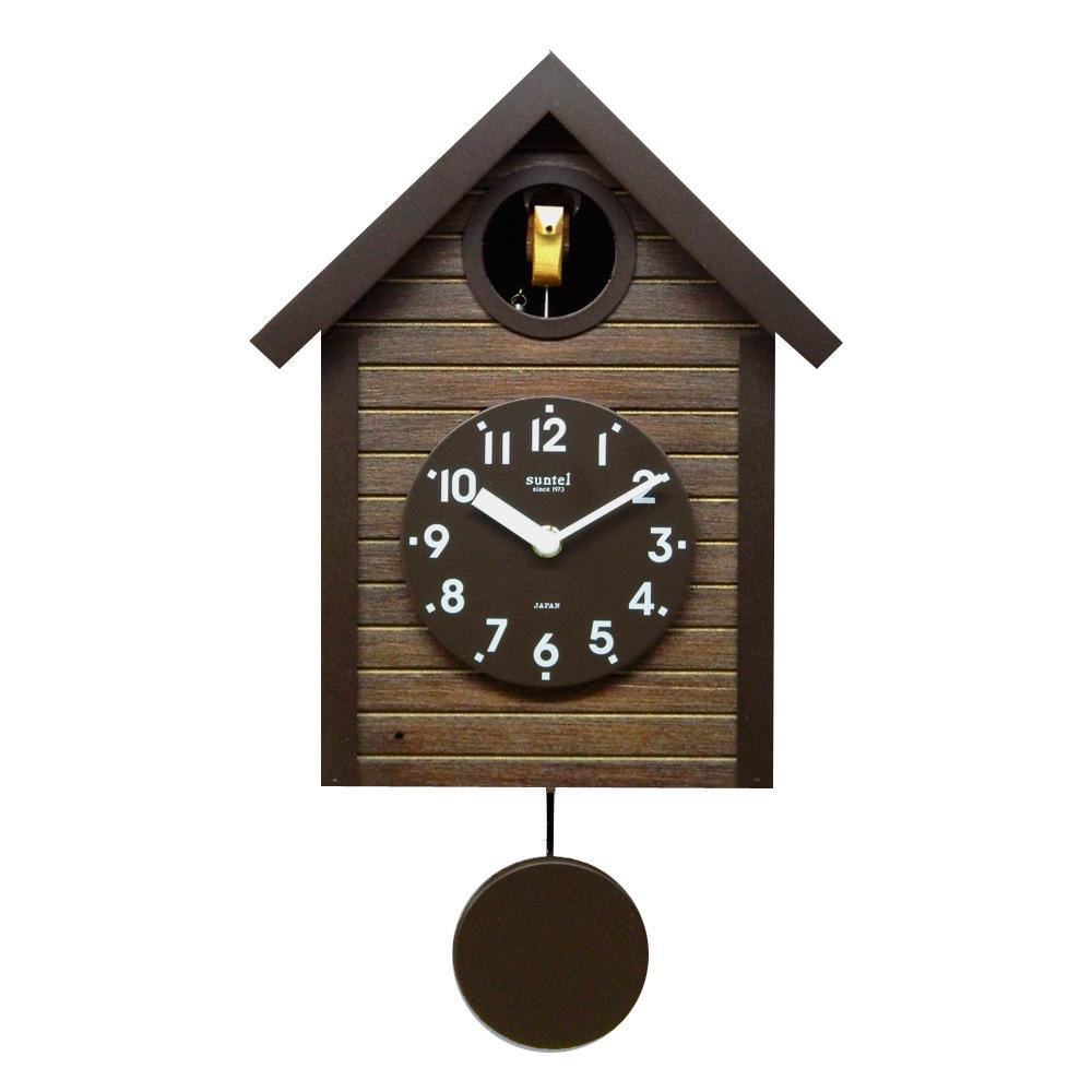 さんてる 日本製 手作り 鳩時計 アンティークブラウン SQ04-AN【置物・掛け時計】