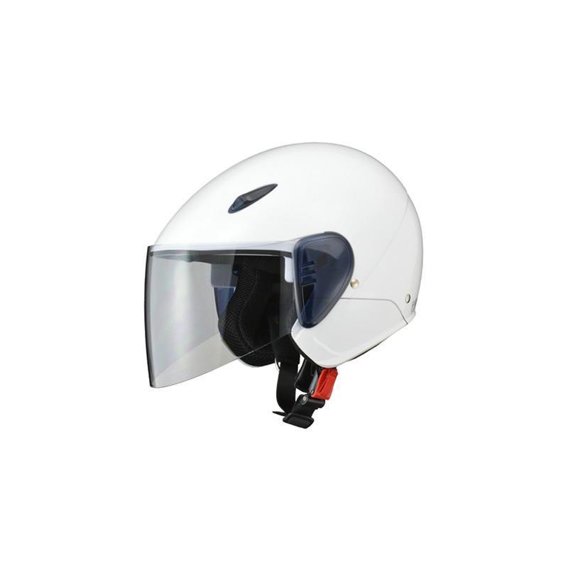 リード工業 SERIO セミジェットヘルメット ホワイト フリーサイズ RE-35【カー・自転車】