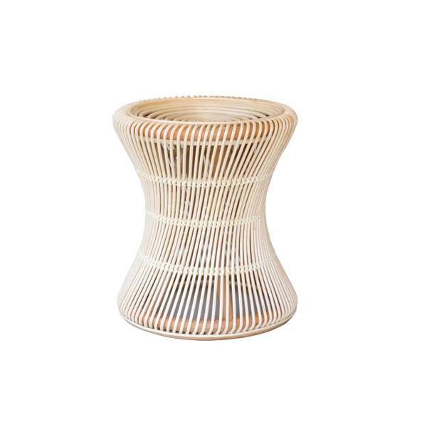 ラタン らくらく丸椅子 ST10NA【家具 イス テーブル】