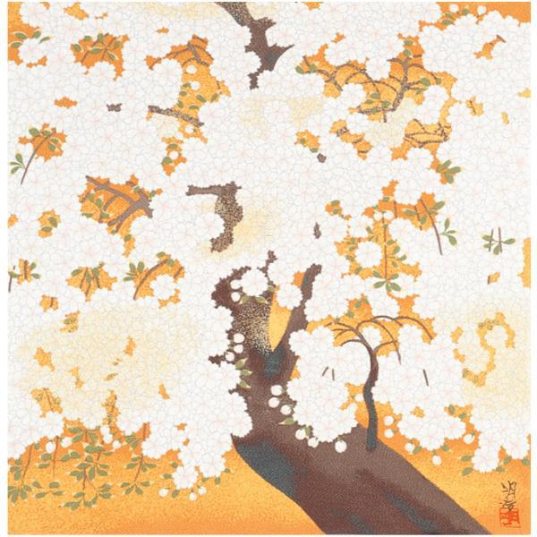 宮井 ふろしき 名作ふろしき 絹68cm幅 橋本明治 朝陽桜 11-4703-40【冠婚葬祭】