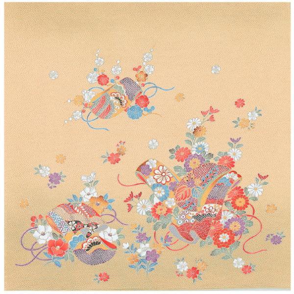 宮井 ふろしき 絹75cm幅 雅の小袖 ベージュ 11-5264-45【冠婚葬祭】