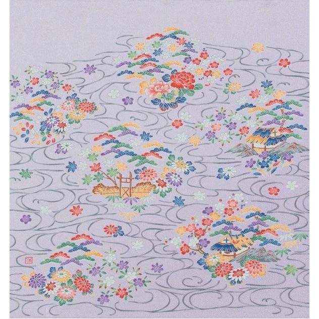 宮井 ふろしき 絹68cm幅 加賀の園 ハトバ 11-4752-92【冠婚葬祭】