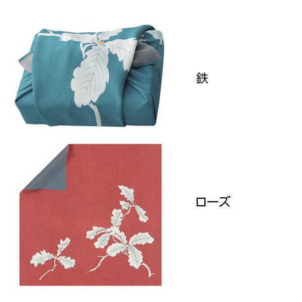 宮井 ふろしき 絹68cm幅 両面柏【冠婚葬祭】