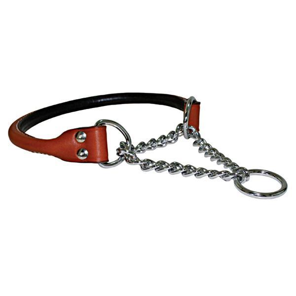 Auburn Leathercrafters マーチンゲールカラー ロールド 60cm×2.5cm ブラウン(タン) 17520【ペット 犬用品】
