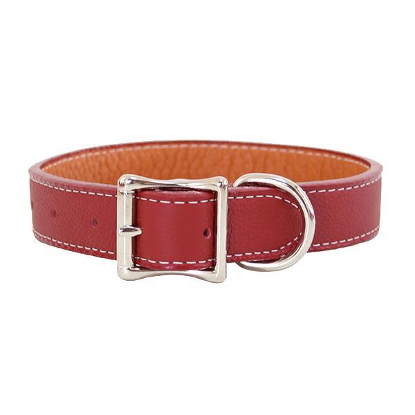 Auburn Leathercrafters トスカーナ本革カラー 50cm×2.5cm レッド 16291【ペット 犬用品】