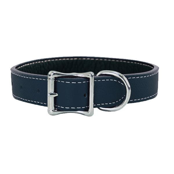 Auburn Leathercrafters トスカーナ本革カラー 55cm×2.5cm ブルー 16245【ペット 犬用品】