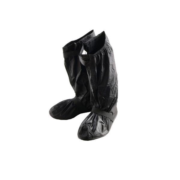 本物 膝下まで覆えるブーツカバー リード工業 Landspout ブーツカバー ソール付き 祝日 RW-053A 自転車 Sサイズ ブラック カー