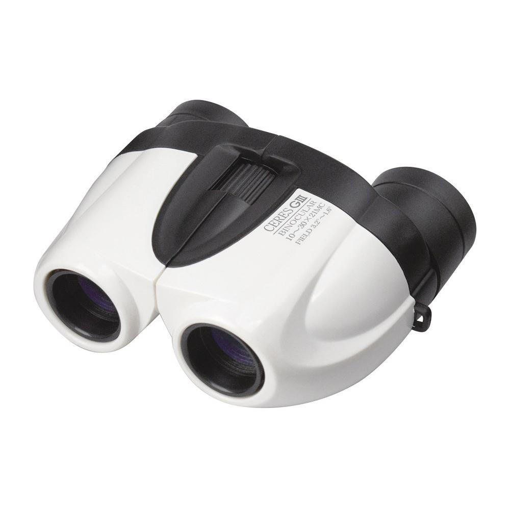 コンパクトなズーム双眼鏡。 双眼鏡 セレスGIII 10-30×21 CO4 ホワイト 071100【デジタルカメラ】