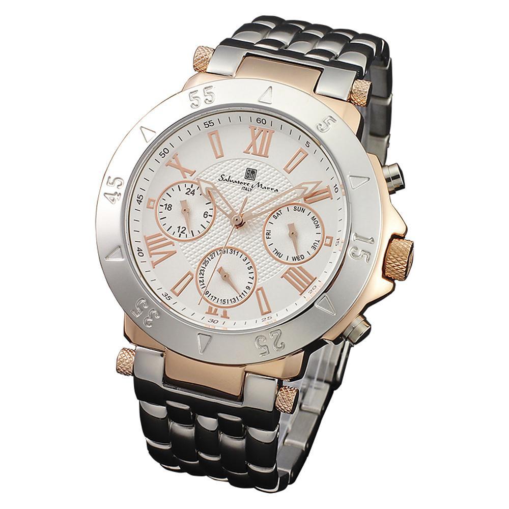 Salvatore 男性用】 Marra(サルバトーレマーラ) 腕時計 Salvatore 腕時計 SM14118-PGWH【腕時計 男性用】, アシストWeb:981fc90e --- officewill.xsrv.jp