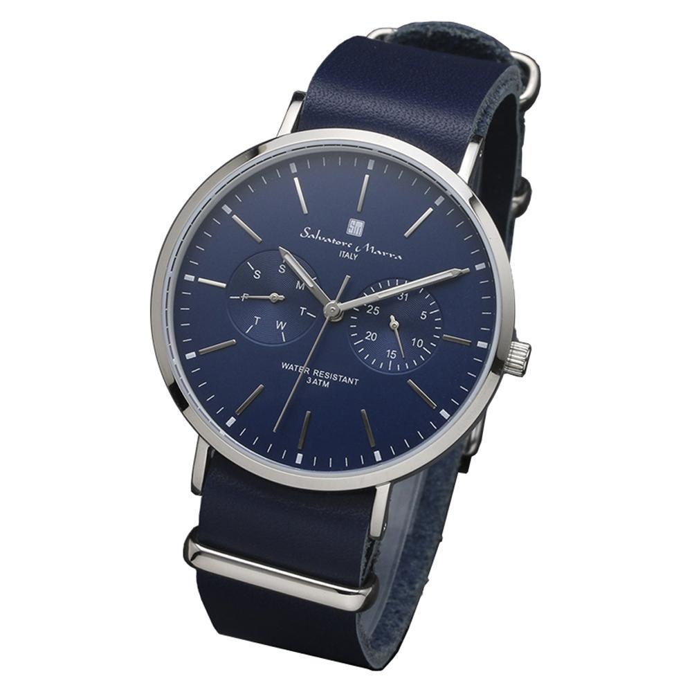 Salvatore Marra(サルバトーレマーラ) 腕時計 SM15117-SSNVSV【腕時計 Salvatore 男性用 腕時計】, ゼンリンドライバーズステーション:d6c54db8 --- officewill.xsrv.jp