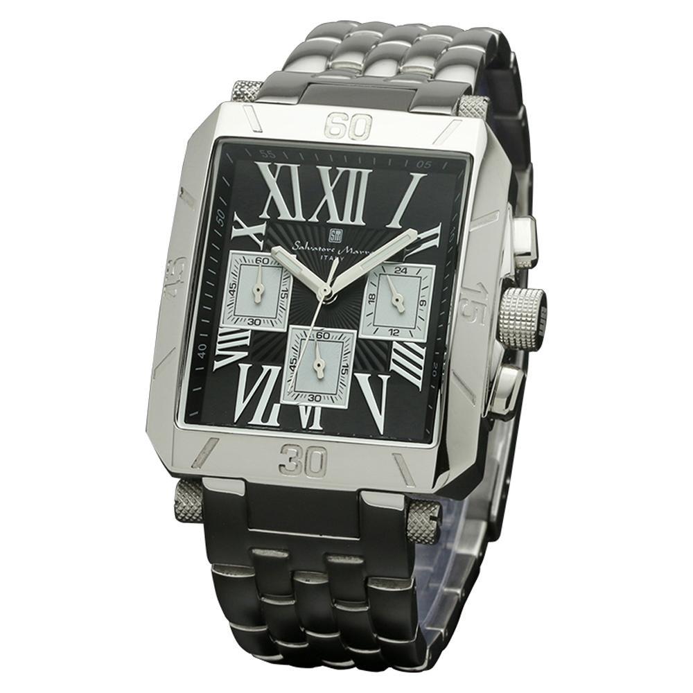 Salvatore Marra(サルバトーレマーラ) 腕時計 SM17117-SSBKSV【腕時計 男性用】
