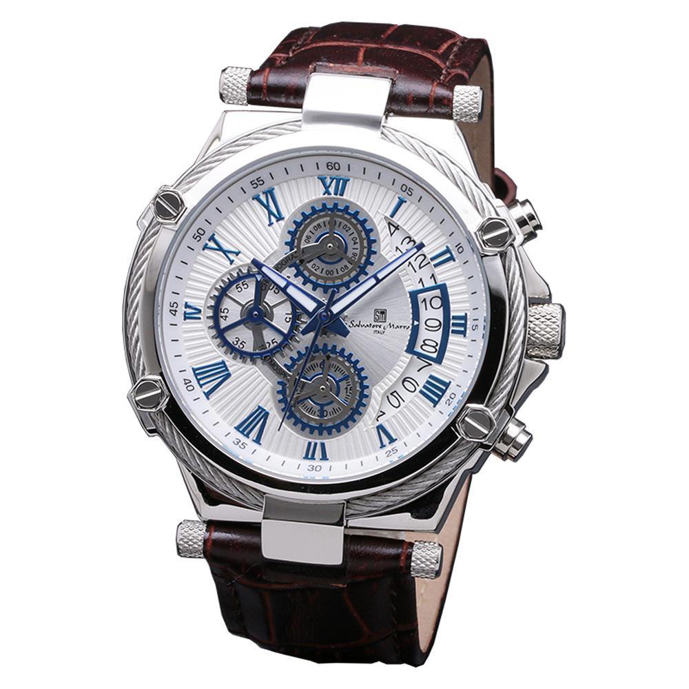 Salvatore Marra(サルバトーレマーラ) 腕時計 SM18102-SSWH【腕時計 腕時計 Salvatore 男性用 男性用】】, 工具のお店i-TOOLS(アイツール):c79dbb80 --- officewill.xsrv.jp