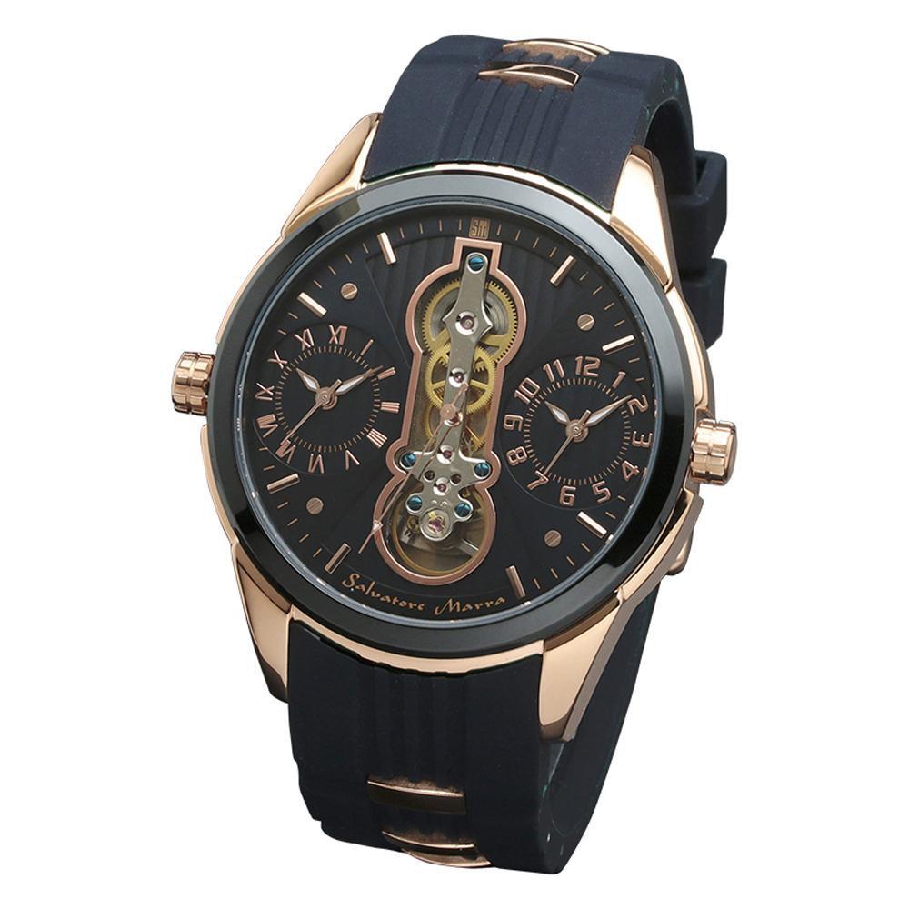 Salvatore 腕時計 Marra(サルバトーレマーラ) 腕時計 SM18113-PGBL【腕時計 男性用】 男性用 SM18113-PGBL【腕時計】, アミダトレーディング:f98636a2 --- officewill.xsrv.jp