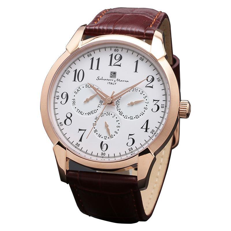 Salvatore Marra(サルバトーレマーラ) SM18107-PGWH 腕時計【腕時計 男性用】