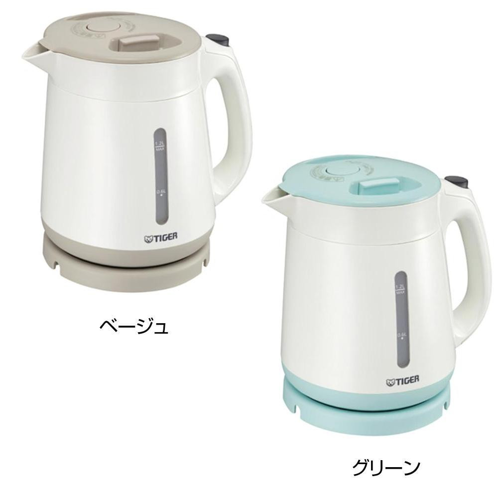 タイガー魔法瓶 電気ケトル1.2l わく子【調理・キッチン家電】
