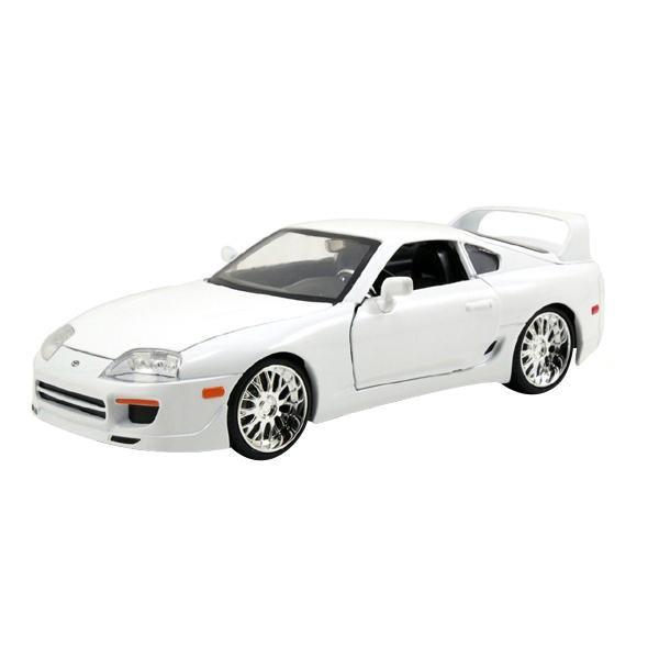 【代引き・同梱不可】正規輸入品 Jada TOYS ミニカー 1:24 Brian's Toyota Supra - Glossy White 19786【玩具】